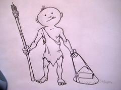 caveman drawing   by adKinn