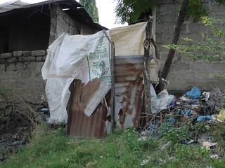 Pit latrine in Tandale, Dar es Salaam