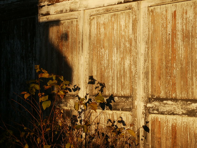 Chester Depot - worn and peeling doors