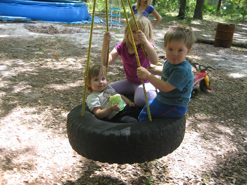 Children on Tire Swing | by Clothdragon1