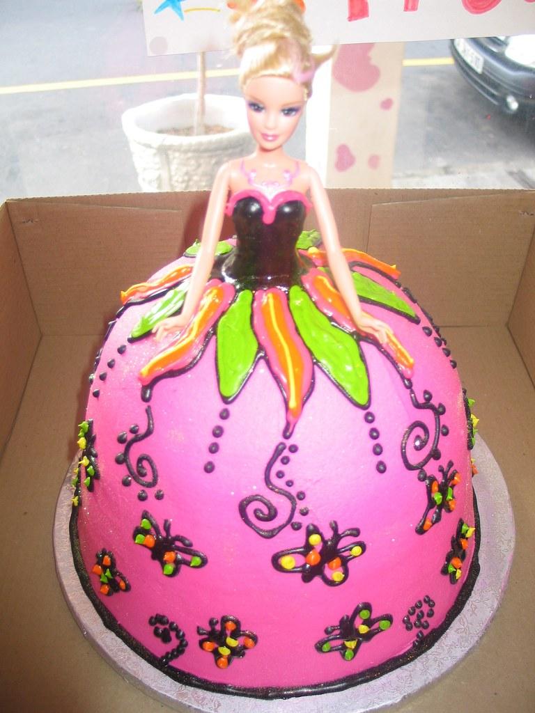 Awesome Mariposa Barbie Birthday Cake Charlys Bakery Flickr Funny Birthday Cards Online Benoljebrpdamsfinfo
