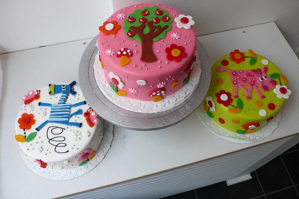 Sensational Kids Birthday Cakes Zebra Apple Tree Pink Cow Birthday Cak Flickr Funny Birthday Cards Online Amentibdeldamsfinfo