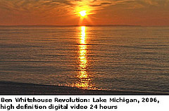Ben Whitehouse Revolution: Lake Michigan, 2006, high definition digital video 24 hours.