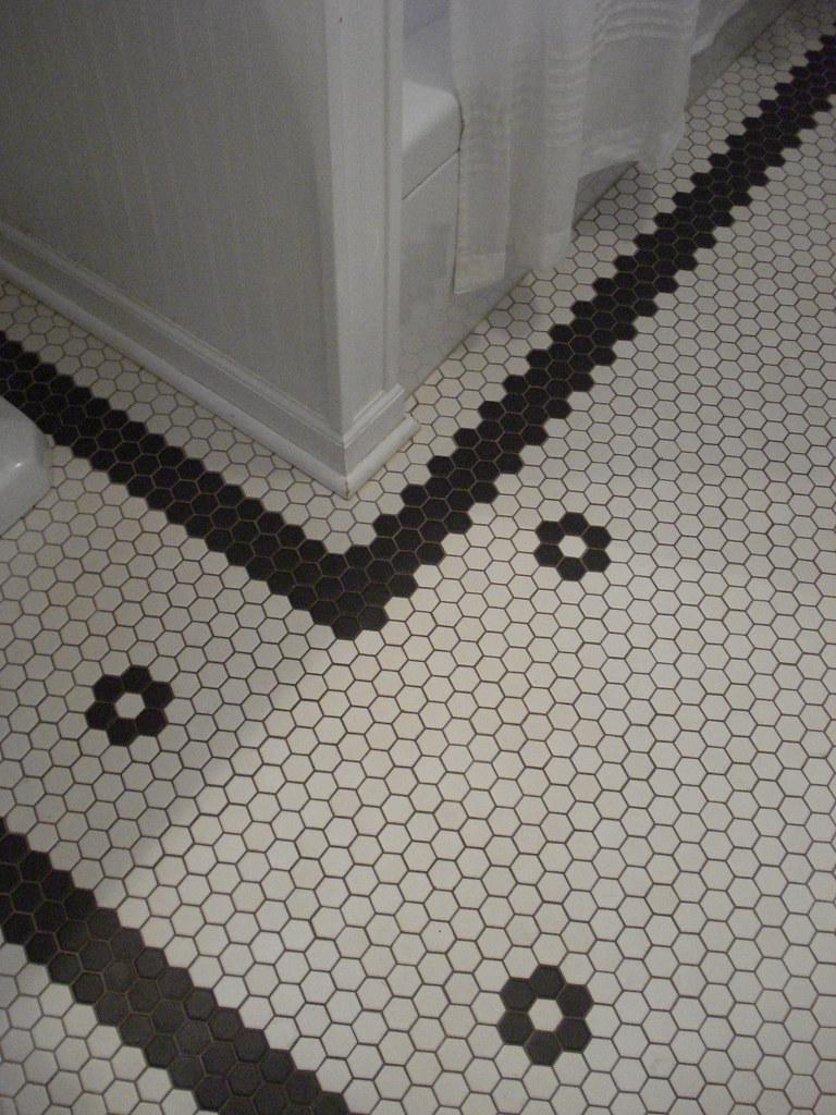Custom Hex Tile Floor Custom Pattern In New Vintage