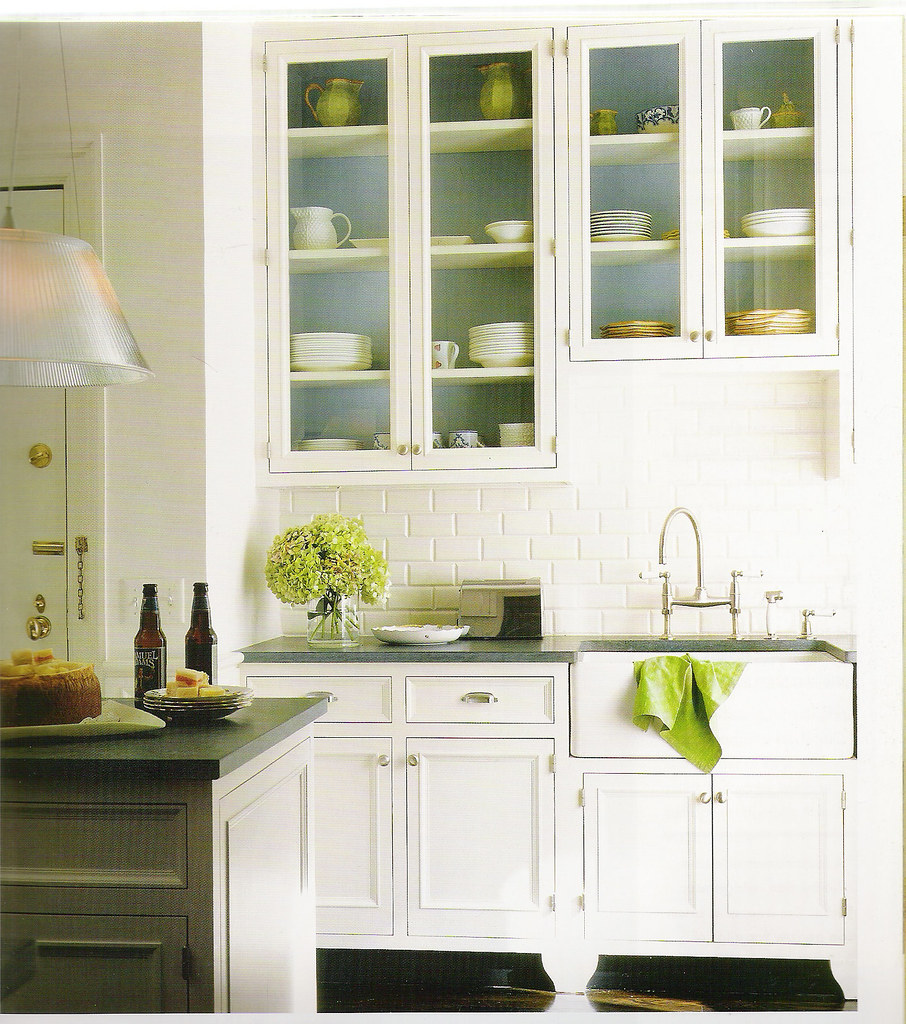 White Kitchen Blue And Green Accents Photo By Dana Galla Flickr