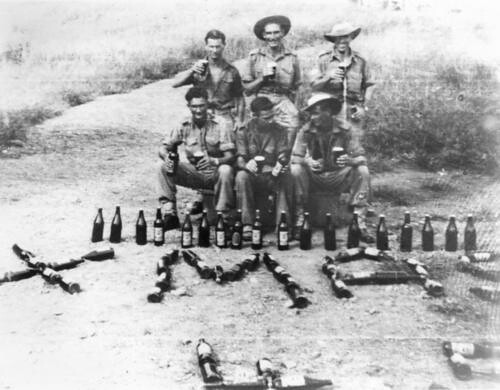 Christmas drinks at the front, New Guinea
