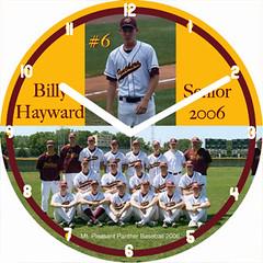 Billy Baseball Sports Clock | by customclockface