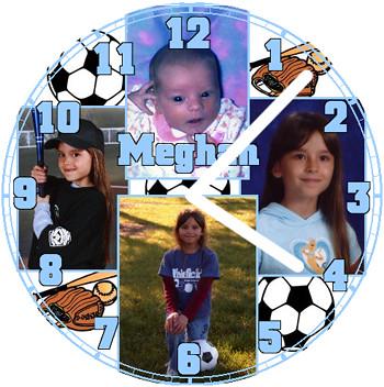 Meghan Growing Up Clock | by customclockface