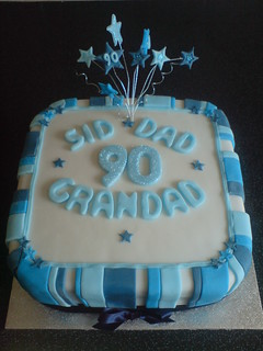 90th Mens Cake With Stars