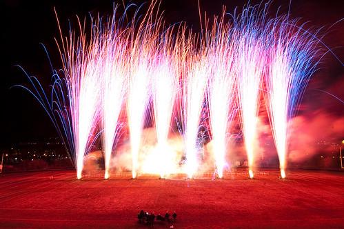 Fireworks on Field