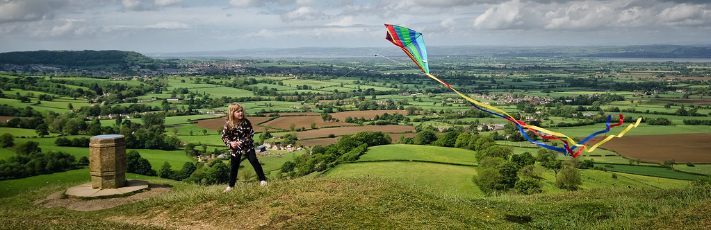 Kite Flying on a Windy Day