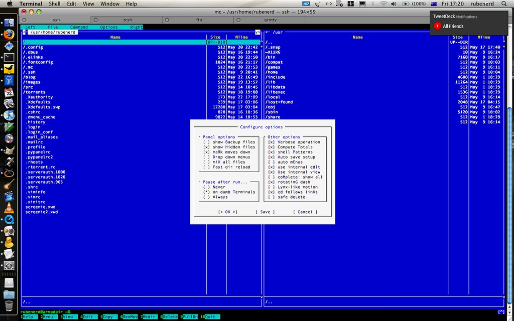 FreeBSD Midnight Commander through SSH on my Mac | For my bl