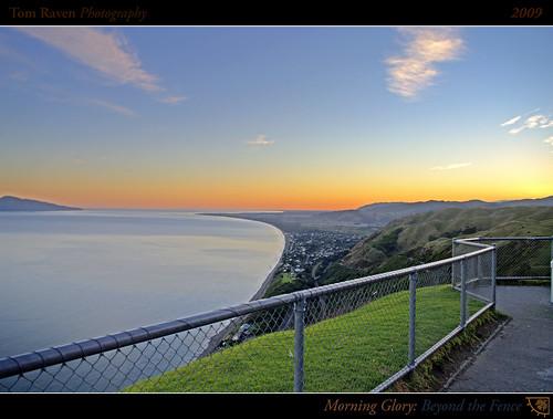 ocean light sea newzealand sky sun mountains clouds sunrise reflections geotagged dawn coast surf glow framed shoreline 2009 hdr kapiti kapitiisland paraparaumu paekakariki theunforgettablepictures betterthangood tomraven geo:lat=41004289 geo:lon=174938178 q209