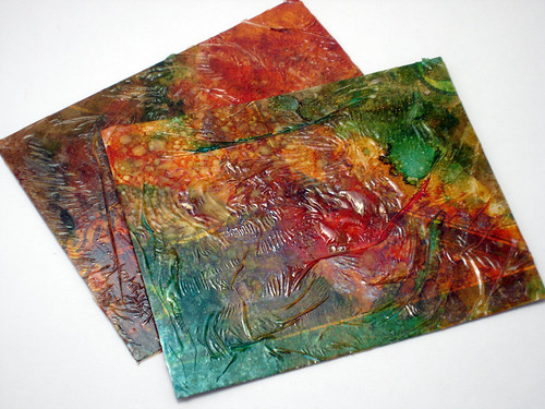 Alcohol Ink Postcards   by CraftyGoat