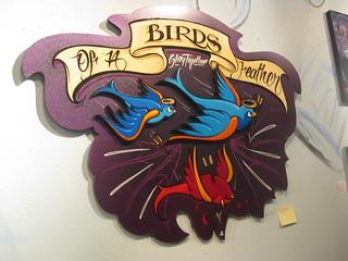 Bird Pinstriping Art Joey Redmond Flickr