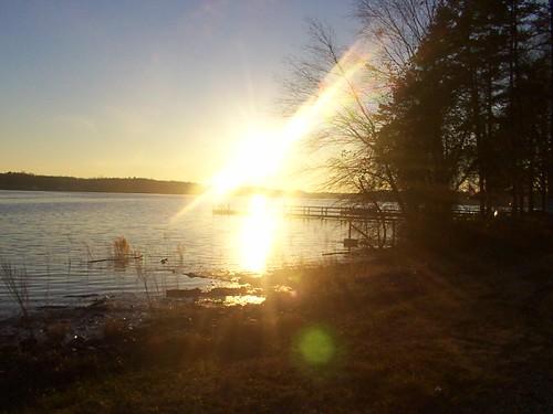 sunset lake rock high
