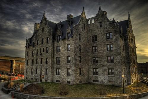new light sunset england castle college burlington vermont dorm hdr uvm 05401 universityofvermont