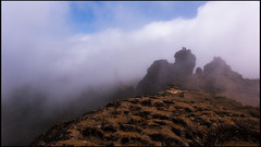 La nube pasa el Roque Nublo