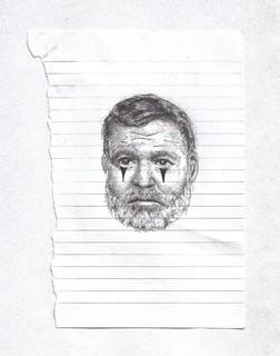 Zavier Ellis 'Mad Genius Clown #3', 2006 Pencil, ink on paper 14.8x10.7cm