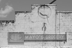 Mayo\'s Grocery - Black and White