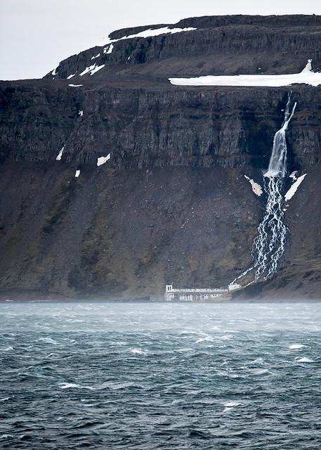 Djúpavík - Iceland - The waterfall Djúpavíkurfoss
