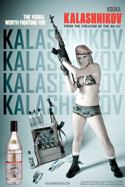 Kalashnikov Vodka Ad Campaign - a photo on Flickriver