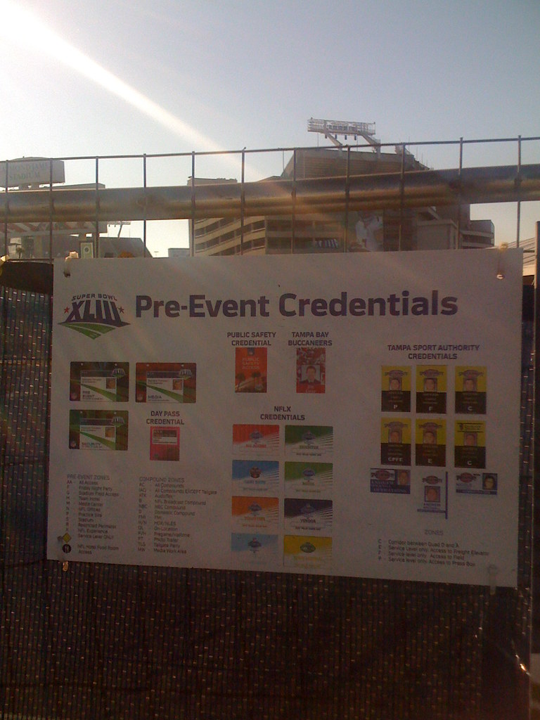 Pre-Event Credentials | Stadium in background  | Flickr