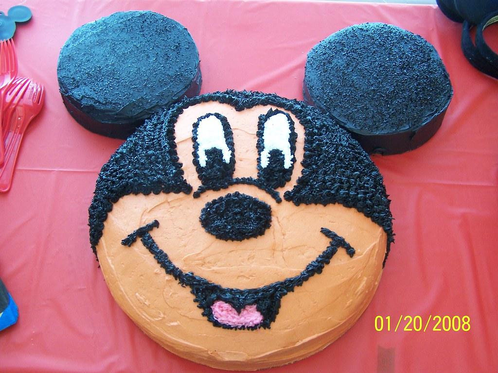 Terrific Mickey Mouse 1St Birthday Cake My Sons 2Nd Birthday Cake Flickr Personalised Birthday Cards Akebfashionlily Jamesorg