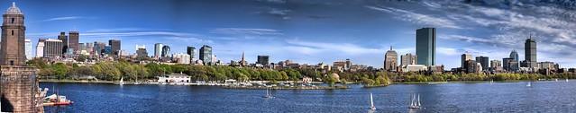 Boston Skyline Panorama Back Bay