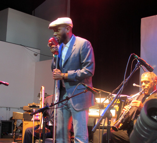 Mos Def sits in with Preservation Hall Jazz Band at Gulf Aid