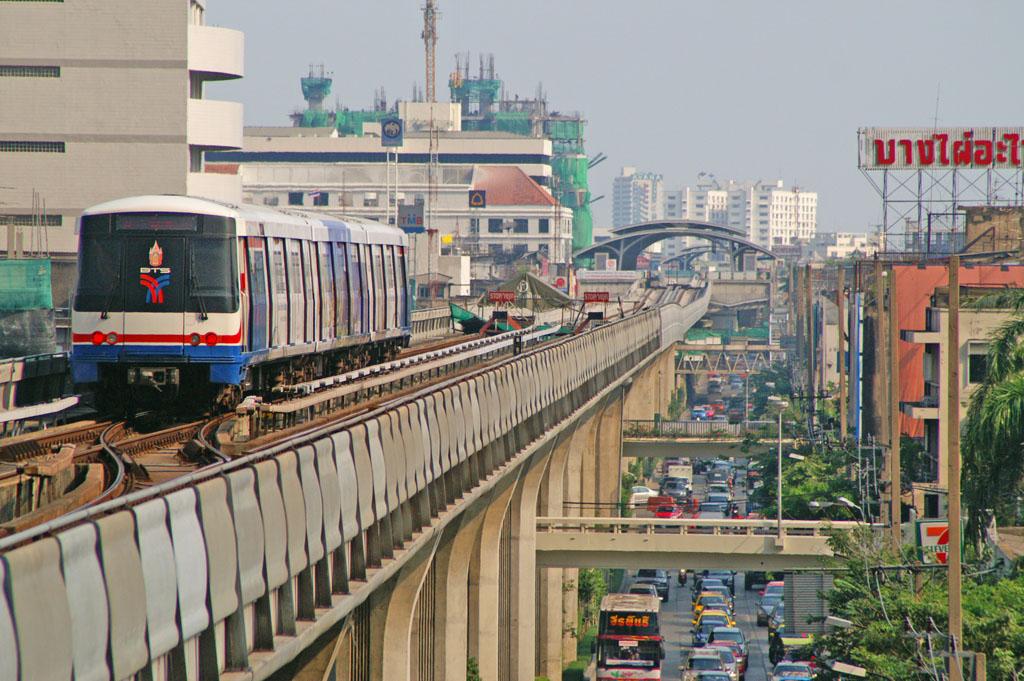 BTS Skytrain extension at On Nut terminal station in Bangkok
