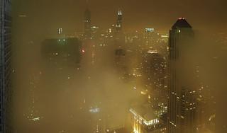 Fog @ Chicago night