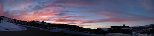 sunset panorama colorado co eagleco eagleranch