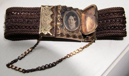 Daguerreotype Locket Clasp on Woven Hair Bracelet | by Photo_History - Here but not Happy