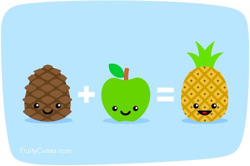 Pineapple Mathematics - Cartoon Fruit joke