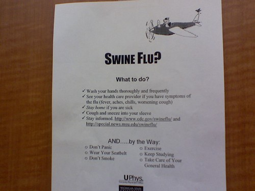 As promised - msu's awesome swine flu clip art | by 46137