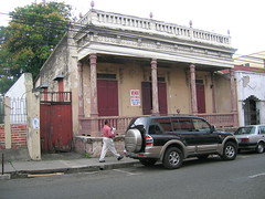 Old building in Santiago on Calle Restauracion