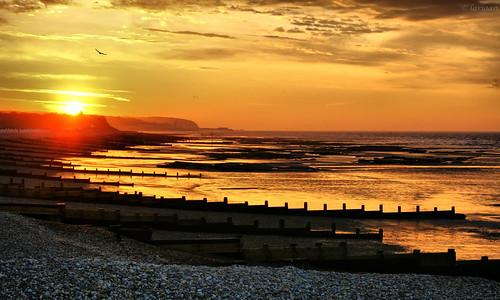 uk sea england beach sunrise dawn unitedkingdom pebbles daybreak bexhill breakwaters omot coastuk larigan phamilton betterthangood damniwishidtakenthat welcomeuk
