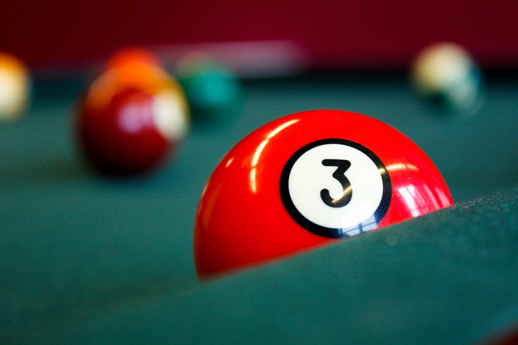 3-Ball | Another shot of the pool table at work. | Bart Heird | Flickr