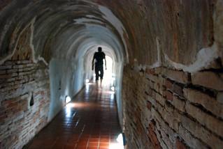 tunnels of wat umong, chiang mai | by hopemeng