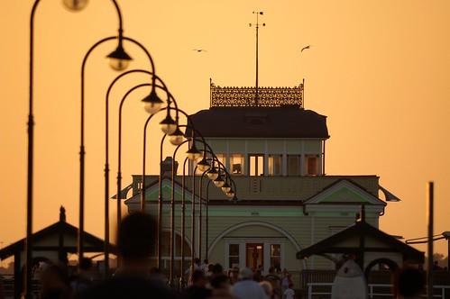 St Kilda pier and kiosk, Melbourne | by Joe Lewit