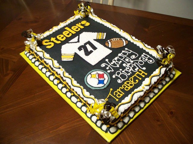 Strange Steelers Birthday Cake Jennifer Flickr Funny Birthday Cards Online Fluifree Goldxyz