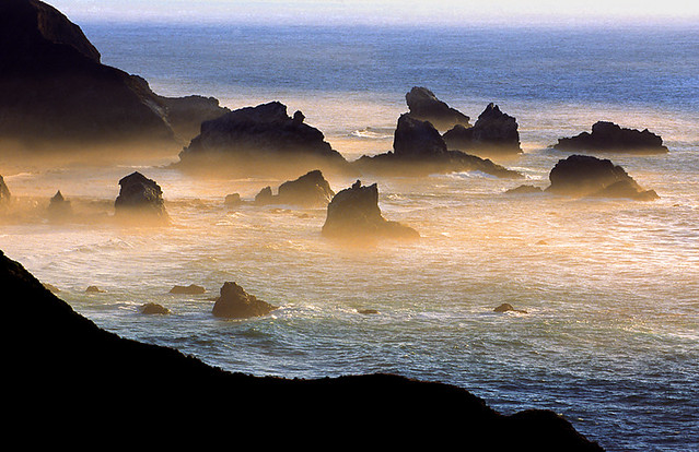 Rocky Cove at Dusk