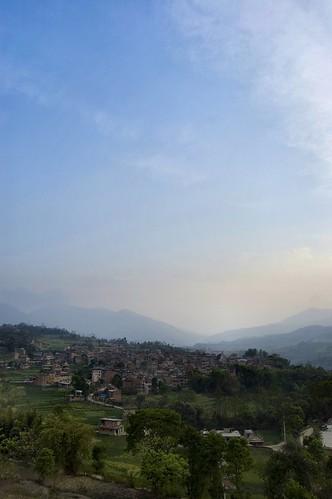 nepal sky mountains green village stocks kathmandu stocki stocka bungamati bungamativillage stockb stockv