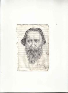 Zavier Ellis 'Mad Genius #5', 2006 Pencil on paper 14.8x10.7cm