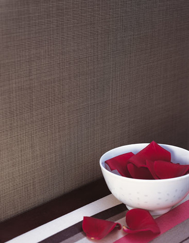 ... Modern wallpaper: Chocolate brown textured grasscloth | by SarahKaron