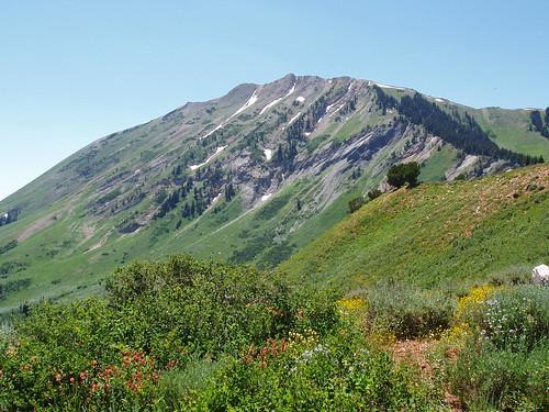 North Peak from the trailhead.