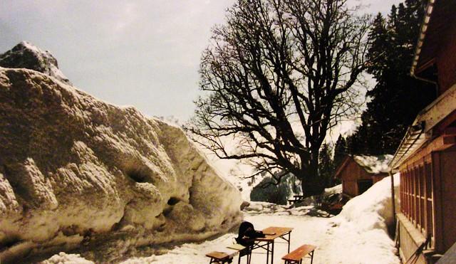 Winterlandschaft - Schneeberg vor der Hütte