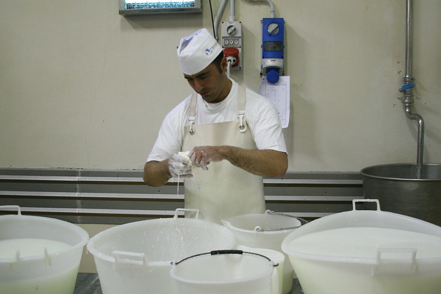 Making Burrata