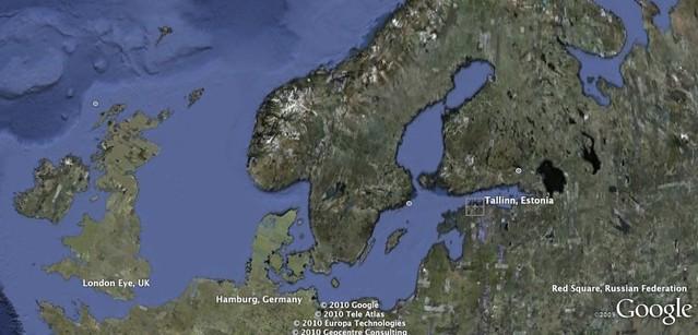 Estonia on Google Earth